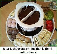 A delicious dessert or anytime snack idea - Dark Chocolate Fondue