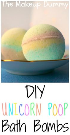 These look so cute! How To DIY Unicorn Poop Bath Bombs! Tutorial by The Makeup Dummy
