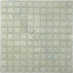 """White 1"""" x 1"""" Clear 1"""" x 1"""" Translucent Glossy & Iridescent Glass - tile - Glass Tile Oasis"""