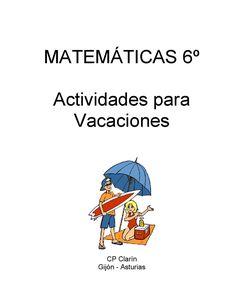 Cuaderno de matematicas verano 6º