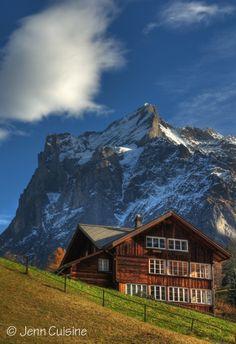 Switzerland - Chalet and Wetterhorn