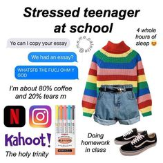 On the subject do school what do u wanna do in 10 years? Someone asked me that and I cried for five minutes 🥰🥰 + The sweater is from… Aesthetic Fashion, Aesthetic Clothes, Vintage Glam, Teen Fashion, Fashion Outfits, Teen Trends, Aesthetic Memes, Look Girl, Types Of Girls