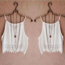 Μοντέρνο καλοκαιρινό φόρεμα γυναικών χωρίς μανίκια Loose Chiffon μπλούζα Casual Crop Tops Vest