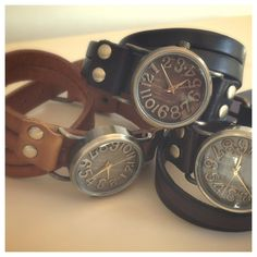 Vintage Leather Wrap Watch - Perfect for Fall!