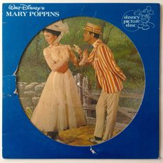 Walt Disney's Mary Poppins - Original Motion Picture Soundtrack - Picture Disc LP Vinyl Record Album, Disneyland - 3104, 1981