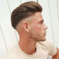 Slick Back Pomp with Mid Fade