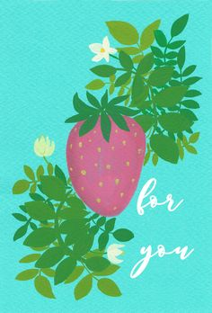 For you card (set of 5) by MEIKOILLUSTRATION on Etsy