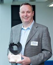 Did you know a Salford graduate helped to design the iPhone?  We gave an award to our very own David Tupman last week.