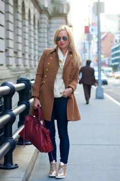 J Crew, Jeans: 7FAM, Sweater: Michael Kors (similar), Sneakers:Capordarte,Bag: Balenciaga Work, Lipstick: Ruby Woo.