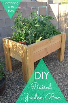 A simple diy raised garden box idea.