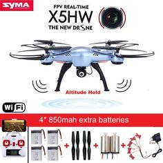 Cheap drone with, Buy Quality drone with camera directly from China drone with camera wifi Suppliers: SYMA Quadrocopter Drone with Camera Wifi FPV HD Real-time RC Helicopter Quadcopter RC Dron Toy Upgrade) Camera Drones For Sale, Drone For Sale, Rc Drone, Drone Quadcopter, Remote Control Toys, Radio Control, Wi Fi, Nitro Boats, The New Doctor