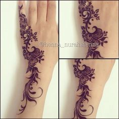 For all the mehandi lovers Arabic Henna Designs, Beautiful Henna Designs, Henna Tattoo Designs, Mehndi Tattoo, Mehndi Art, Henna Mehndi, Mehendi, Arabic Mehndi, Bridal Mehndi