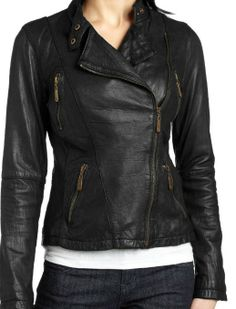 Amazon.com: Leather Outfitters Gorgeous Leather Jacket for Women: Clothing $224