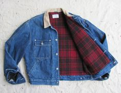 1980s Ralph Lauren Polo wool-lined denim jacket // made in USA