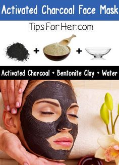 Activated Charcoal Face Mask - Remove impurities and clear up acne using an activated charcoal face mask. Penetrates and clarifies the skin, removing dirt from pores. Works wonderfully as a spot treatment for blemishes same for Teeth cleaning/ Whitener Charcoal Face Mask Diy, Activated Charcoal Face Mask, Homemade Face Masks, Diy Face Mask, Diy Beauty, Beauty Hacks, Beauty Ideas, Face Mask For Blackheads, Tips Belleza