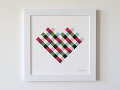 Love never goes out of style. Plaid Heart Print on @BRIKA