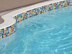 Pool Tile Ideas lightstreams glass tile pool step tile marker examples Find This Pin And More On Pool Refinish Ideas