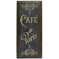 Dark Blue & Brown Cafe de Paris Wood Wall Decor | Shop Hobby Lobby.....just bought this!