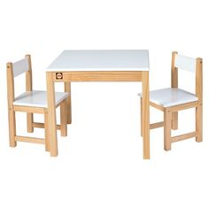 Alex® Toys Wooden Table and Chair Set - White  sc 1 st  Pinterest & Lipper International Childu0027s Square Table and 2 Chairs Set - Walnut ...