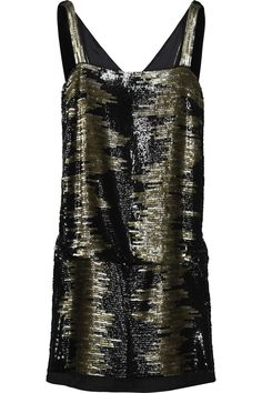 Sequined zebra-stripe dress by Marc Jacobs