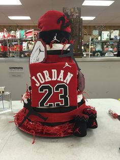 Lovely Front Of Diaper Cake For Lil Jordans Baby Shower! My First Grand Baby!