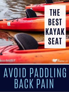 """Kayaking is great fun but when you start to suffer from a bad back or general """"sitting pain"""", the fun slowly begins to fade. #boatingtime #boatingday #boatingsafety"""
