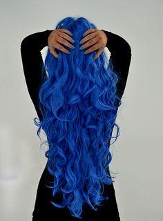 Bright blue hair!