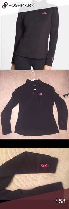 The North Face - 1/4 zip breast cancer pullover Worn once! Perfect condition! Size small The North Face Tops Sweatshirts & Hoodies