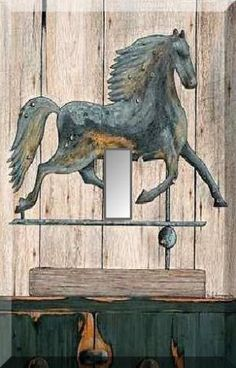 Rustic Running Horse Weathervane Verdigris Single Switch Plate300 x 469 | 40.1 KB | tastefullypasted.ecrater.co...