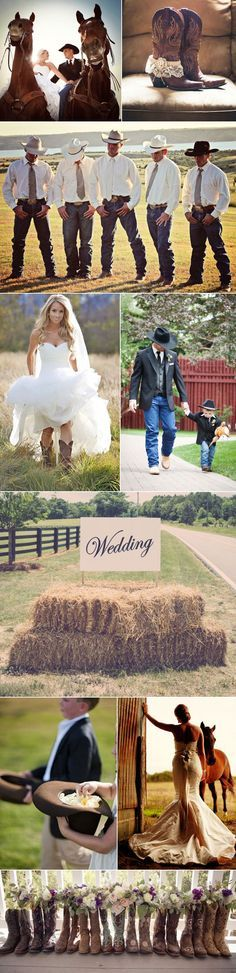 Country Western Cowboy Weddings More