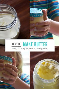 how to make butter - a fun activity that helps to teach children where food comes from and just two ingredients!
