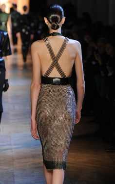 Stefano Pilati's chain mail dresses for YSL-yet another chainmaille dress that is impressive from the back.