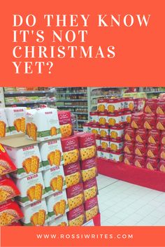 Pin Me - Do They Know It's Not Christmas Yet - www.rossiwrites.com