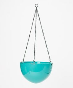 Another great find on #zulily! Blue Ceramic Hanging Planter by Evergreen #zulilyfinds