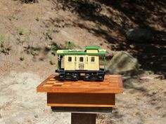 SOLD! Vintage Jim Beam Bourbon Whiskey bottle / decanter in the shape of an antique railroad caboose.