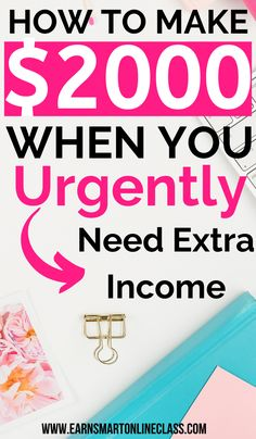 Money Discover 35 Best Ways to Make Extra Money Now Looking for legit ways to make extra money from home? This list will show you creative ways to make extra money on the side! Need Money Now, Hobbies That Make Money, Way To Make Money, Earn Money Fast, Earn Money From Home, Earn Money Online, Quick Money, Online Income, Online Jobs For Teens