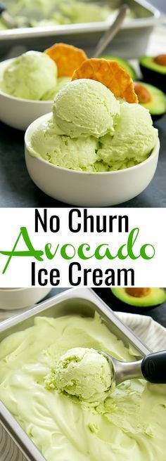 No Churn Avocado Ice Cream. Just 3 ingredients, eggless and no ice cream maker needed!