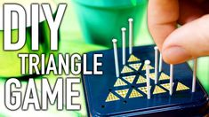 Make your own Pyramid Game with simple household components. Triangle Game, Pyramid Game, Pretend Food, Diy Coffee Table, Diy Games, Camping Crafts, Handmade Home, Felt Crafts, Hgtv