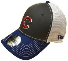 5bb6f7cfd5b CHICAGO CUBS GRAY FRONT NEO 39THIRTY FLEX FIT CAP BY NEW ERA  ChicagoCubs   Cubs