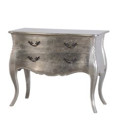 The Fleur antique style chest is a stunning piece of furniture. This chest features 2 drawers and has a silver leaf finish. It looks amazing when matched with our Fleur French bedroom furniture collection. It also works perfectly in a living room or hallw Mirrored Furniture, French Furniture, Shabby Chic Furniture, Luxury Furniture, Bedroom Furniture, Painted Furniture, Furniture Storage, Silver Furniture, Ikea Furniture