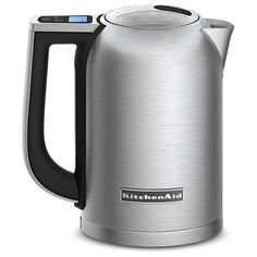 KitchenAid KEK1722SX 1.7-Liter Electric Kettle with LED Display - Brushed Stainless Steel: Kitchen & Dining