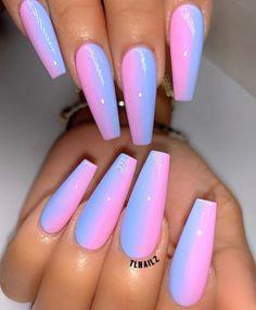 Cotton candy Nails On Fleek, Dope Nails, Swag Nails, Nail Shop, Nail Envy, Nails Inspiration, Pink Nails, Fancy Nails, My Nails