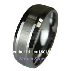 mobile site-New Tungsten Carbide Wedding Band Mens Ring Titanium Color Comfort Fit Wedding Ring Mens Jewelry Fashion Ring Size 8~12