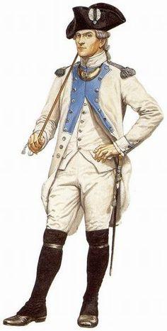 Officier de l'Armagnac de régiment à la baie d'Hudson en 1782