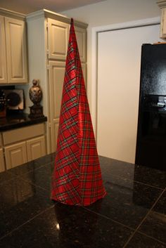 Fabric Covered Poster Board Christmas Tree Cones...