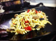 I Pasticci della Pupa: Trofie profumate al curry con melanzane e zampina