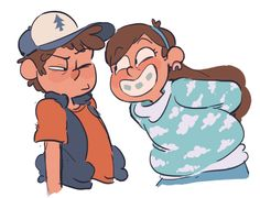 """""""C'mon, give your sister a smile!"""" """"No"""" """"Why not?"""" """"Mabel leave me alone"""" """"Aw c'mon, you know that ain't gonna happen bro-bro!"""""""