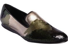 Prada Camo Sequin Wholecut Loafers | UpscaleHype