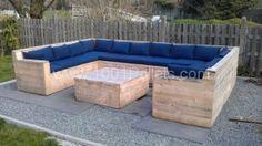 gardenset 600x338 U garden set made with Pallets! in pallet garden pallet furniture  with Sofa Pallets Lounge Garden
