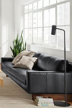 For Those Who Love Contemporary Lines But Seek Extreme Comfort, The Hess  Leather Sofa Is